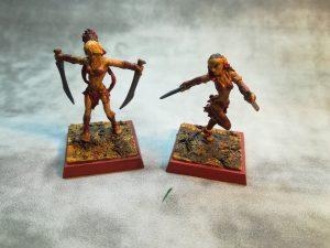 Freebooter Miniatures Amazonen Gefolge, bemalt von Fenja