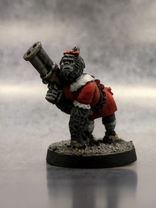 Ape in red dress (Judge Dredd)